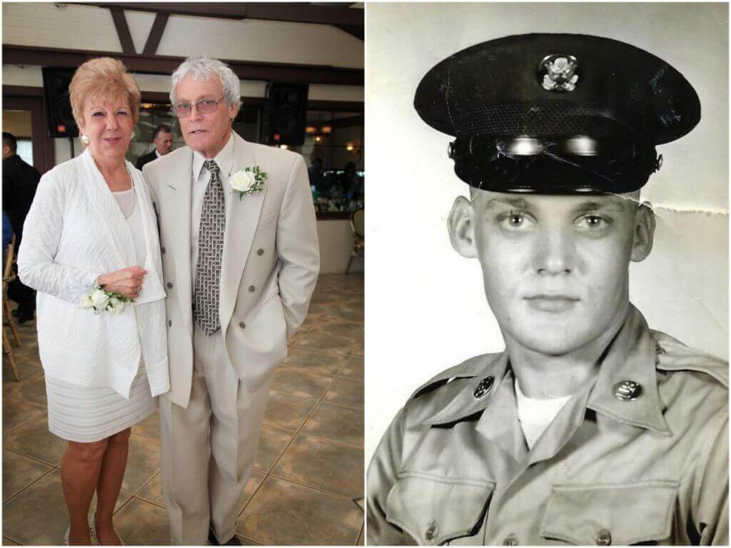 (Left) Ann and Dan Murphy of Rockaway, NY. Dan passed away about a year and a half after Superstorm Sandy in 2012. (Right) Dan served in the U.S. Army from 1966-69.