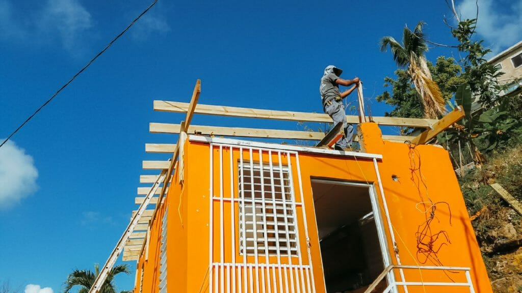 Local Contractors Led And Hired By Team Rubicon Began Rebuilding Replacing Roofs Last Week