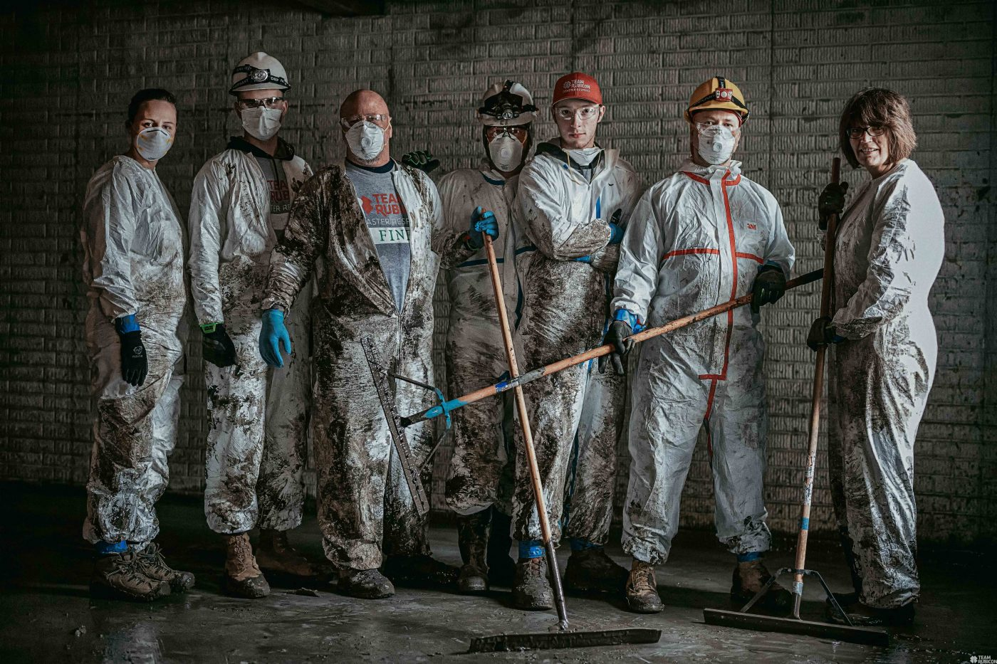 Seven people ready to do dirty work,