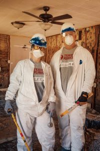 Couple in construction garb