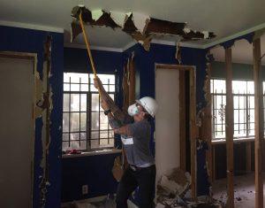 Woman doing demolition